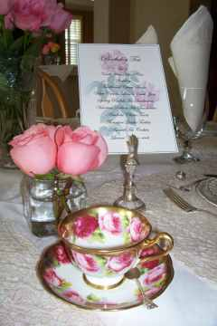 Fine details of a Tea with Friends Tea...
